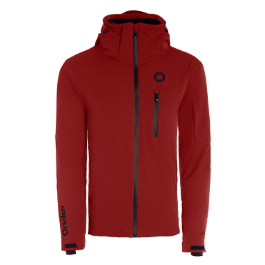red Orsden ski jacket