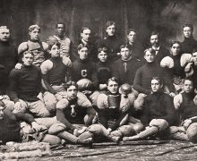 Samuel Howard Archer and his teammates posing for a team photo