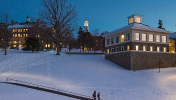 Colgate covered in snow