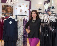 Emily Constantine Doren '04 at her lingerie store