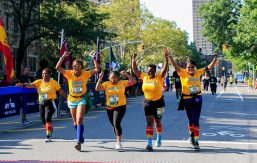 Zakia Haywood '97 and others running in a race
