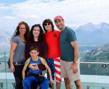 Julie (Rosenbaum) Skolnick '90 and family