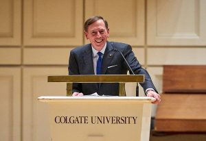 Gen. David Petraeus at Colgate
