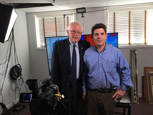 Dan McLean '97 and Senator Bernie Sanders