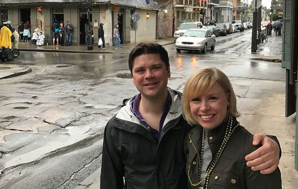 Brittany Emens '04 and Hunter Strupp '05 in New Orleans