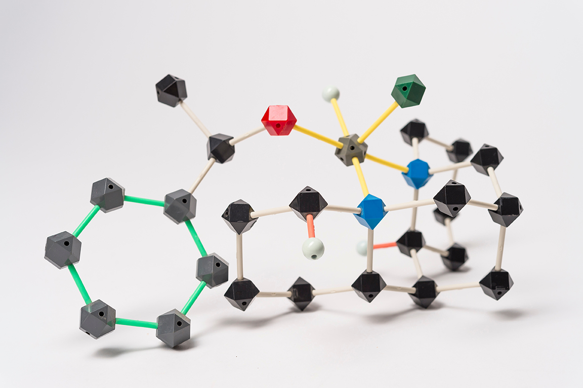 colorful molecular model