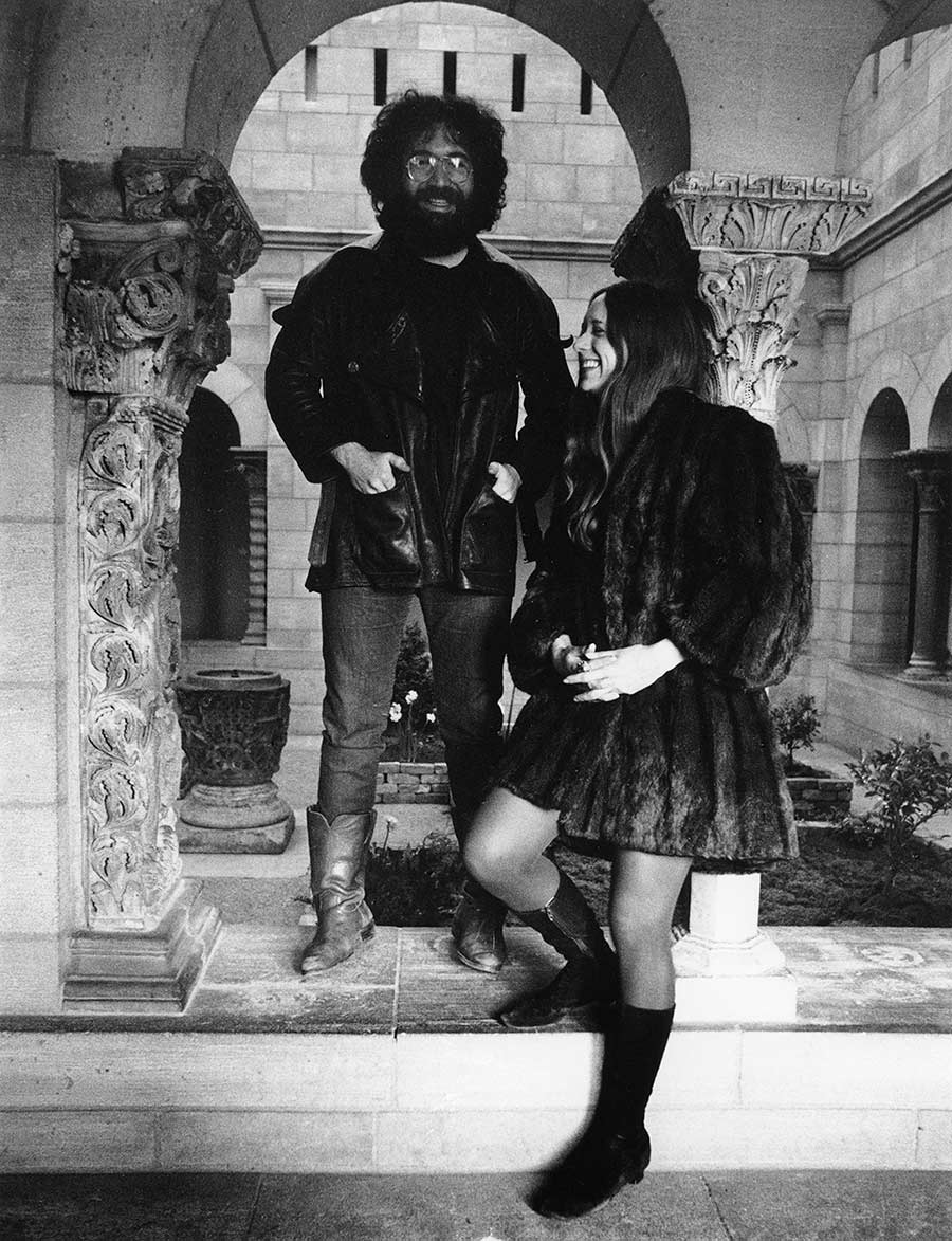 Jerry Garcia and an unnamed woman