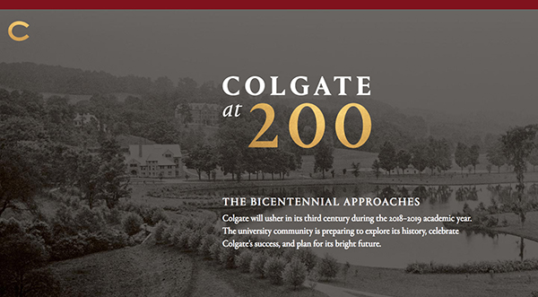 Preview of the new Bicentennial site with an archive photo of campus