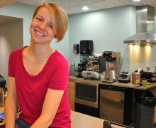 Christy Mills '17 in her kitchen