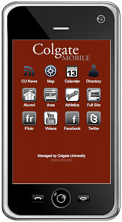colgate mobile offers on the go access to university colgate university news. Black Bedroom Furniture Sets. Home Design Ideas