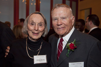 Fred '50 and Marilyn Dunlap in New York City on April 4.