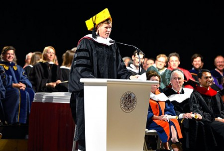 Mark Murphy at commencement