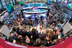 Colgate University rings the opening bell at the New York Stock Exchange