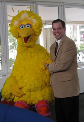 Jamie Ostrov with Big Bird