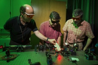 Creating physical proof. Professor Galvez's photon quantum mechanics lab is transforming physics education.