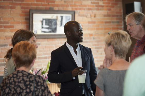 David Adjaye met with community members on Aug. 15