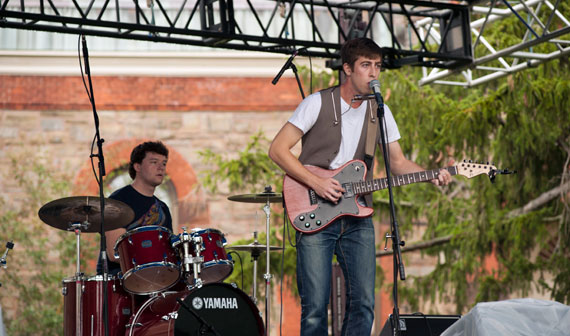 Students perform during the fourth annual 'Gatestock.