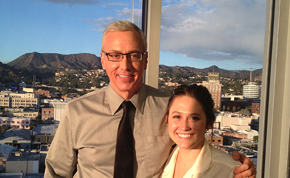 Megan Adams '16 poses with Dr. Drew Pinsky.