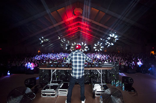 Avicii performs in the Sanford Field House as part of Spring Party Weekend  2012.