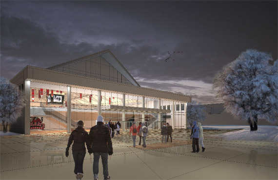 The proposed new athletic facility at Colgate University