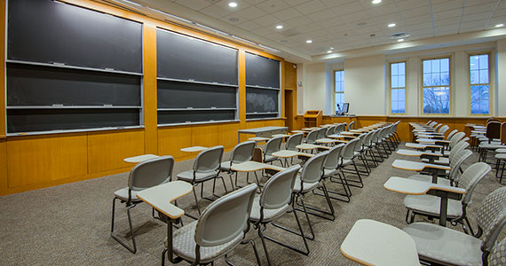 The multipurpose room replaces 209 Lathrop, which was a tiered classroom.