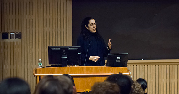 Lani Guinier spoke at Love Auditorium as part of Black History Month at Colgate.