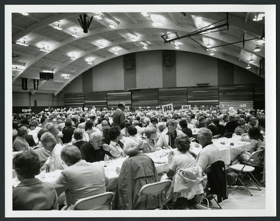 Gathering for dinner in 1982