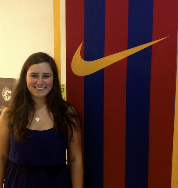 Gracie Rentschler '16 in the Shanghai office