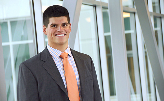 Michael Kastner '14, leasing intern at DDR Corp.