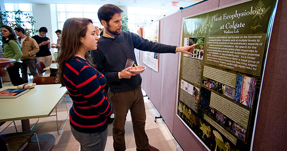 Colgate faculty members work closely with students on many different research projects.