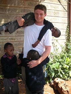 Griffen O'Shea '13 in Kenya