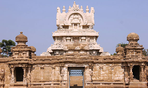 The eighth-century Kailasanatha temple is in the southern Indian city of Kanchipuram.