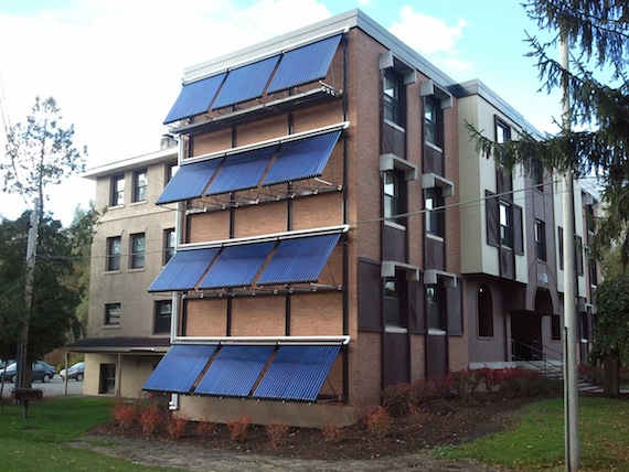 Solar heating at 100 Broad at Colgate University