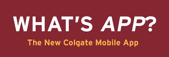 What's App at Colgate?