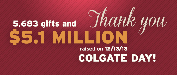 Colgate says thank you