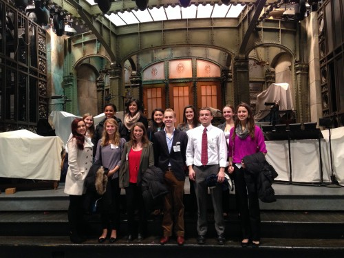 Colgate students visit the set of Saturday Night Live as part of a recent immersion trip to NYC.