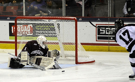 Colgate's ECAC Ice Hockey Championship run ended with a loss Saturday night.