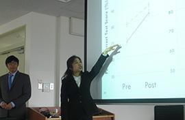 J presenting WEB