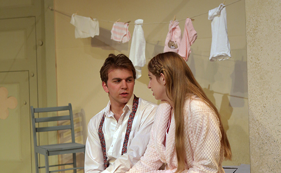 A rehearsal shot from A Dream Play, directed by Simona Giurgea