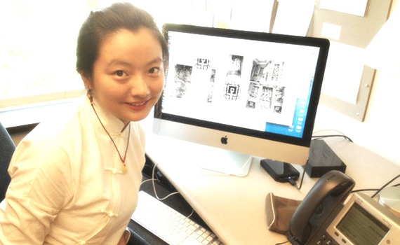 Shan Wu '15 helped Professor Padma Kaimal with her book manuscript as part of summer research.