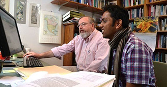 Michael Johnston collaborating with Srikar Gullapalli