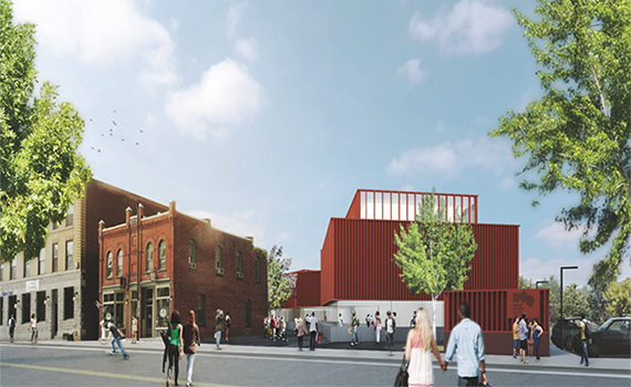 Rendering of the new Center for Art and Culture