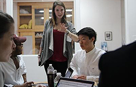 Amanda Brown '15 discusses her venture with Colgate Hackathon participants