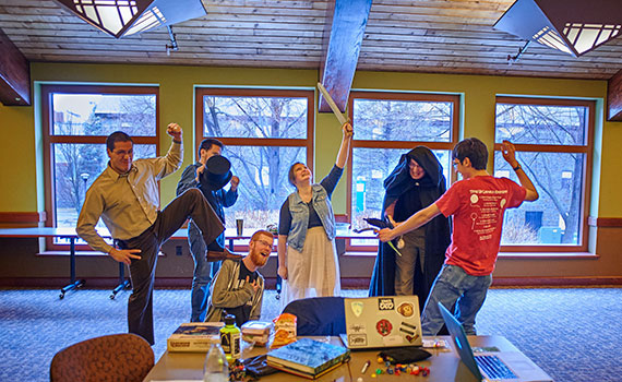 Colgate's Roleplaying Game Society. Photo by Anna Heil '16