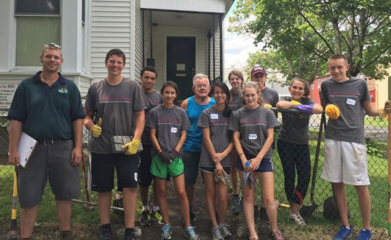 Students pitched in to help Utica residents
