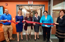Ribbon cutting in the Center for International Programs