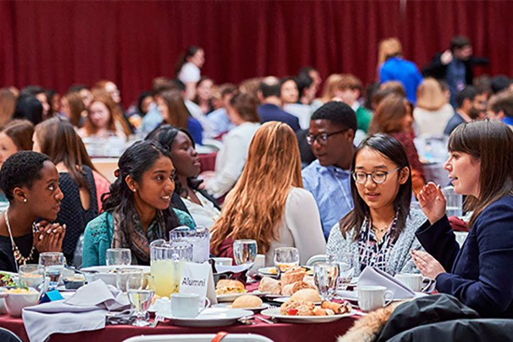 Students receive alumni career advice at SophoMORE Connections, January 15-16.