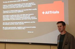 Colgate alumnus speaks on prescription drug clinical trial transparency