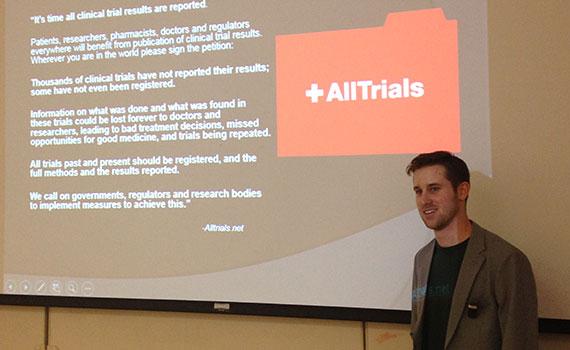Colgate alumnus speaks on prescription drug clinical trial transparency