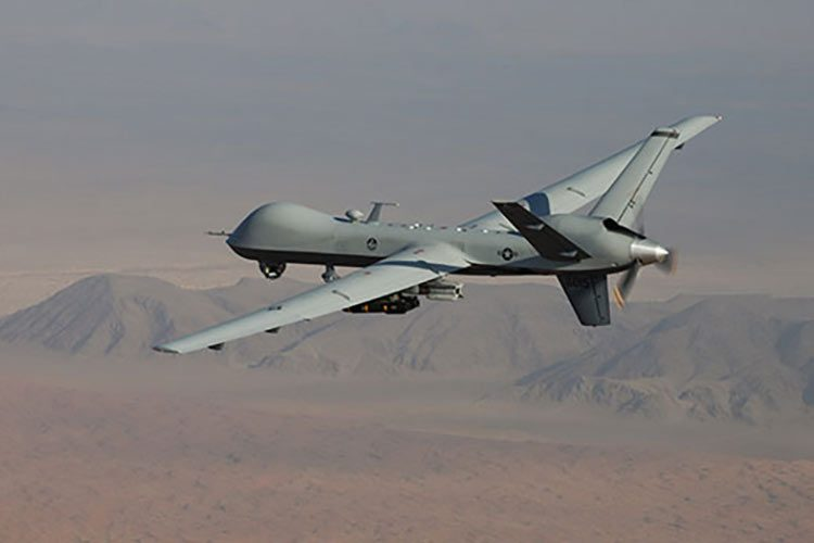 MQ-9 Reaper drone flying over Afghanistan
